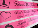 Personalised Hen Night Sash